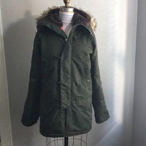 Vintage Pop England Parka Green Mod Jacket Green S
